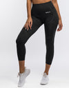 Arise Crop Leggings - Pirate Black