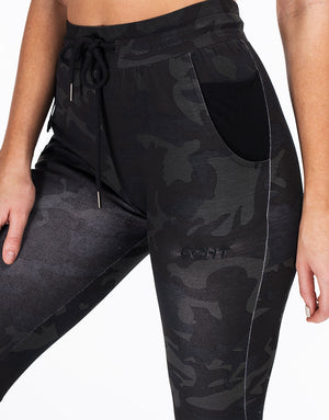 Ladies Tapered Joggers V2 - Black Camo