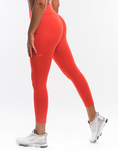 Echt Purpose Leggings - Grenadine