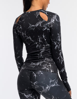 Echt Marble Long Sleeve - Black
