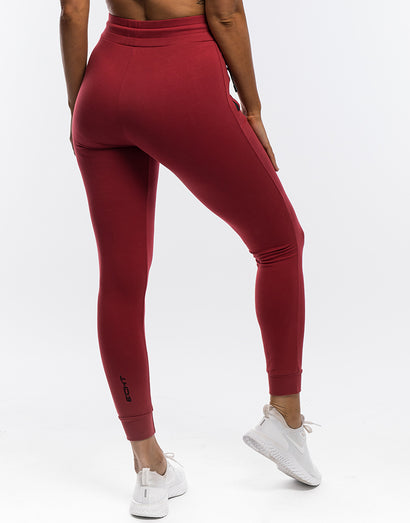 Ladies Tapered Joggers - Sangria