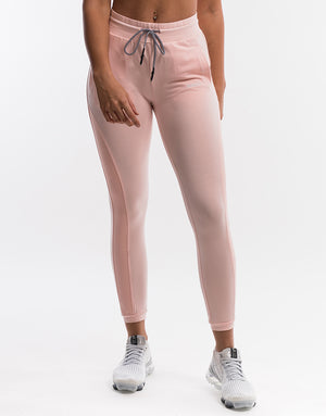 Ladies Mesh Joggers - Peach