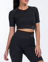 Arise Comfort Crop Top - Pirate Black