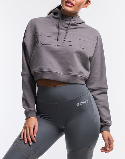Echt Polar Cropped Hoodie - Lilac