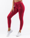 Ladies Tapered Joggers - Crimson