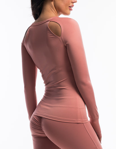 Echt Scrunch Long Sleeve - Dusty Pink