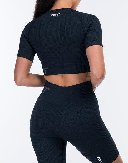 Arise Comfort Crop Top - Navy