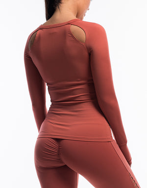 Echt Scrunch Long Sleeve - Garnet