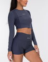 Echt Air Crop Top - Navy