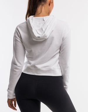 Force Cropped Zip-Up - White