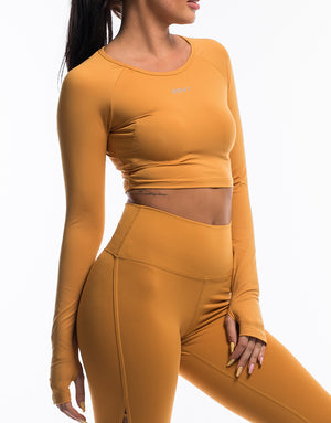 Echt Scrunch Cropped Long Sleeve - Citrus