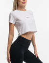 Echt Lifestyle Cropped Tee - White