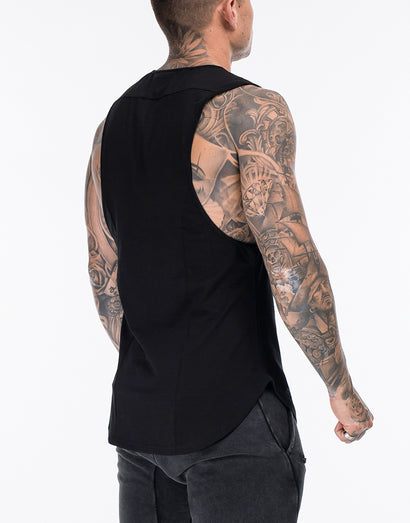 Echt Stencil Muscle Top - Black