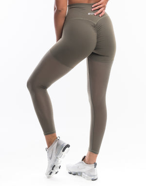 Echt Sock Leggings - Dusty Olive
