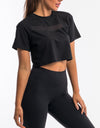 Echt Mesh Cropped Tee - Black