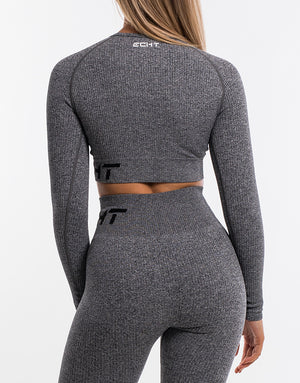 Arise Comfort Cropped Long Sleeve - Charcoal