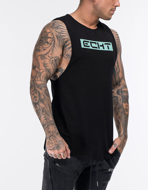 Echt Stencil Muscle Top - Hyper Green