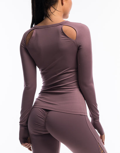 Echt Scrunch Long Sleeve - Mauve