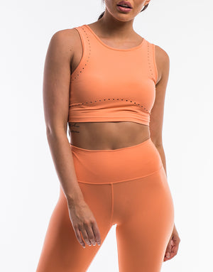 Echt Icon Crop Top - Cantaloupe