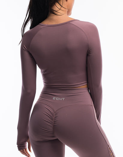 Echt Scrunch Cropped Long Sleeve - Mauve