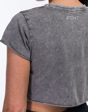 Echt Wash Cropped Tee - Grey