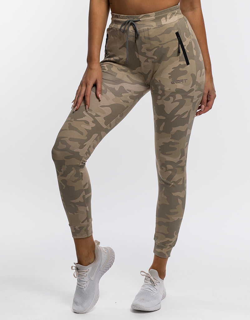 big clearance sale vast selection purchase newest Ladies Camo Joggers - Sand