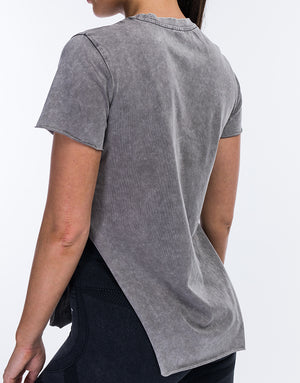 Echt Wash Full Length Tee - Grey