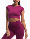 Echt Scrunch Cropped Tee - Boysenberry