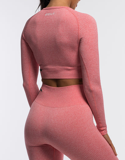 Arise Comfort Cropped Long Sleeve - Rose