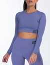 Arise Comfort Cropped Long Sleeve - Velvet Blue