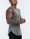 Echt Wash Muscle Top - Charcoal