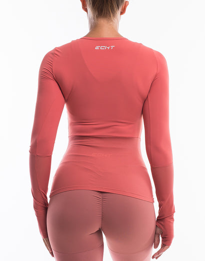Echt Sock Long Sleeve - Salmon Red