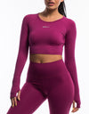 Echt Scrunch Cropped Long Sleeve - Boysenberry