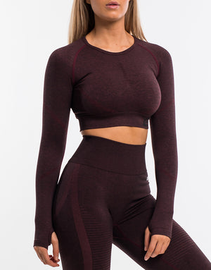 Arise Scrunch Crop Top - Berry