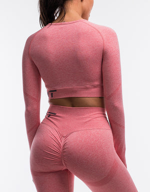 Arise Scrunch Crop Top - Rose