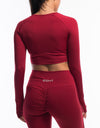 Echt Scrunch Cropped Long Sleeve - Sangria