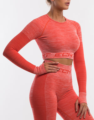 Arise Pure Cropped Long Sleeve - Grenadine