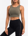 Echt Icon Crop Top - Olive