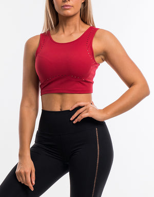 Echt Icon Crop Top - Crimson