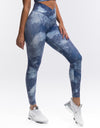 Echt Coral Leggings - Sky Blue