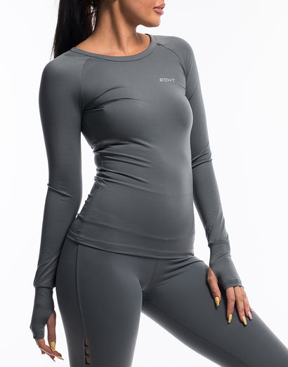 Echt Scrunch Long Sleeve - Gun Metal