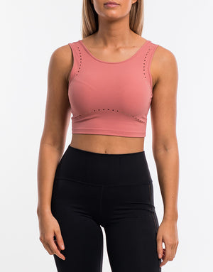 Echt Icon Crop Top - Dusty Pink