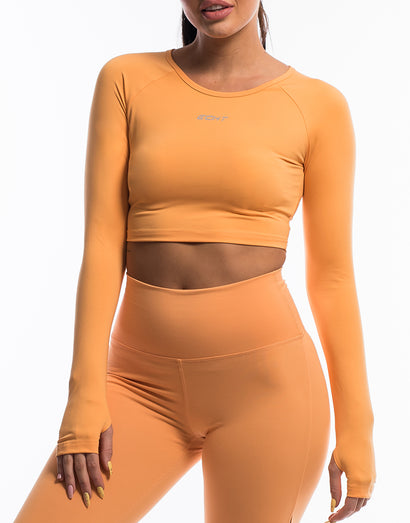 Echt Scrunch Cropped Long Sleeve - Blazing