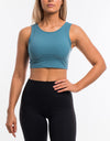 Echt Icon Crop Top - Teal