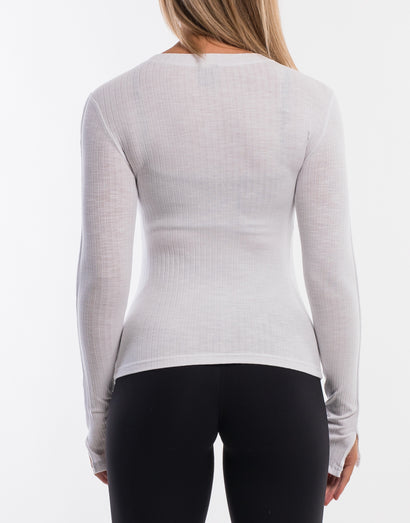 Debby Knit Top - White