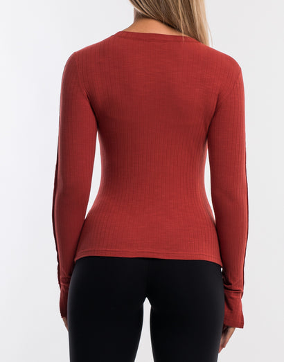 Debby Knit Top - Cinnabar