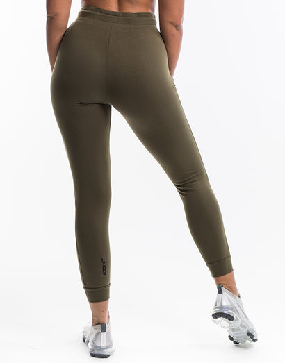Ladies Tapered Joggers V2 - Olive