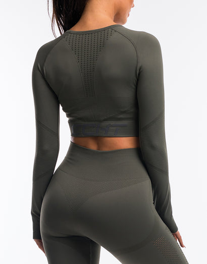Arise Prime Cropped Long Sleeve - Olive