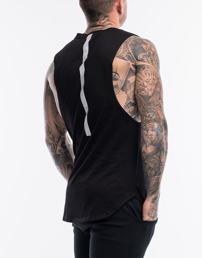 Echt Synth Muscle Top - Black