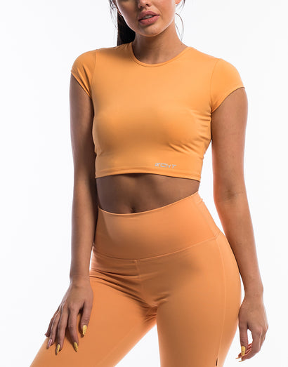 Echt Scrunch Cropped Tee - Citrus